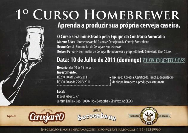 1º Curso de Cerveja Caseira em Sorocaba